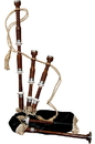 Roosebeck Full Size Sheesham Bagpipe with Black Cover