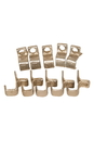 Roosebeck Clips for Outside Tunable Bodhrán 10-Pack