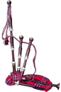 Roosebeck Full Size Sheesham Chalice Style Bagpipe with Red Tartan Cover