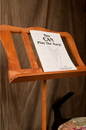 Roosebeck Single Tray Spiral Red Cedar Music Stand