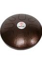 DOBANI 12-Inch 8-Note Steel Tongue Drum, Bhopali Tuning - Antique Bronze