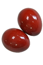 DOBANI Egg Shakers, Wooden Pair Red