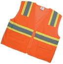 Mutual Industries Ansi Class 2 Surveyor Vest With Pouch Pockets