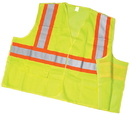 Mutual Industries Ansi Class 2 Lime Solid Tearaway With Pockets