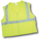 Mutual Industries Ansi Class 2 Lime Solid Durable Flame Retardant Vest