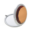 ALICE Brown Crystal Makeup Mirror Compact Mirror, With Gift Box