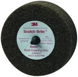 3M 7410 4X1 1/4Rivet Cleaning Disc, Price/EACH