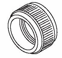 Devilbiss Gti-3 Air Cap Retaining Ring, Price/EA