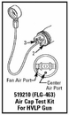 Devilbiss Flg-463 Hvlp Air Cap Test Kit