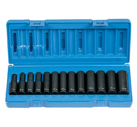 "Grey Pneumatic 1203MD Dp Met 13Pc Set 3/8""Dr, Price/SET"