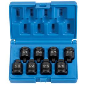 "Grey Pneumatic 1308P 1/2""Dr 8Pc Pipe Plug Skt Set, Price/EACH"