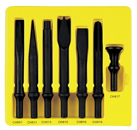 Grey Pneumatic CS807 Hd Chisel 7Pc Set.498 Shank, Price/SET
