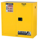 JUSTRITE 893000 Cab Man 30Gal Yl Flam Safe Ex W/Safety