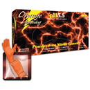 Atlantic Safety Products LGOR-S Orange Lightning Nitrile Small 100/Bx