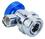 ROBINAIR 18190A R134A Low Side Field Srv Cplr/Blue V