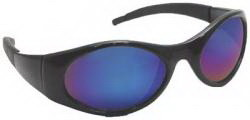 Sas Safety Blk Frames W/ Blu Mirror Shades, Price/EA