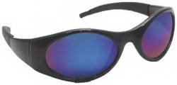 Sas Safety Blk Frames W/ Blu Mirror Shades, Price/EA