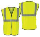 SAS Safety SA690-1209 Class 2 Hi-Viz Yellow Vest-L