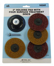 S & G TOOL AID 94560 3 Holding Pad W/4 Surf Treat Disc