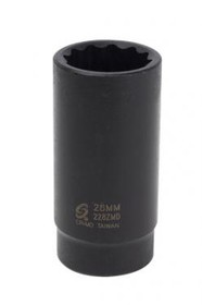 "SUNEX INTERNATIONAL 226ZMD 1/2"" Dr. 12Pt 26mm Dp Imp. Skt, Price/EA"