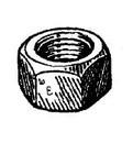 W & E Nut Uss 3/8X-16 Gr5 100Pk