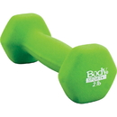 Body sport NDB02C Neoprene Dumbbell, 2 Lbs, Latex-Free, Light Green