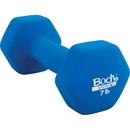 Body sport NDB07C Neoprene Dumbbell, 7 Lbs, Latex-Free, Blue