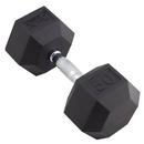 Body sport BDSRSDB50 Body Sport Rubber Encased Hex Dumbbell, 50 Lbs.