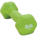 Body sport VDB02 Vinyl Dumbbell, 2 Lbs, Latex-Free