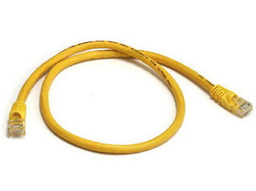 Monoprice 2FT 24AWG Cat6 550MHz UTP Ethernet Bare Copper Network Cable - Yellow
