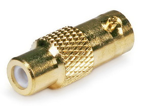 Monoprice BNC Female to RCA Female Adaptor - Gold Plated