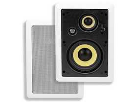Monoprice 6-1/2 Inches 3-Way High Power In-Wall Speaker (Pair)