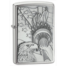 Zippo ZI20895 Brushed Chrome, Something Patriotic Emblem