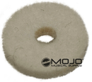 Felt Strap Button Washers White (1 Dozen)