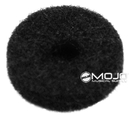 Felt Strap Button Washers Black (1 Dozen)