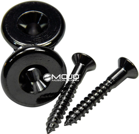 Gotoh Strap Buttons Oversized Black Chrome / 2