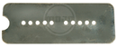 Mojotone P-90 Baseplate Nickel Silver Soapbar 50mm (1.97'')