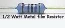 Metal Film 1/2W 1.5K Ohm Resistor