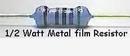 Metal Film 1/2W 100 Ohm Resistor