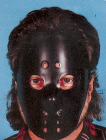 Morris Costumes 10-552 Hockey Mask Black