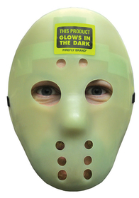 Morris Costumes 10-558 Hockey Mask Glow
