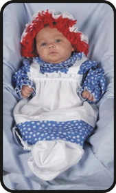 Morris Costumes 12-118 Raggedy Ann Bunting