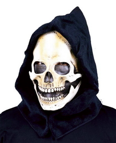 Morris Costumes 35-01BS Hooded Skull