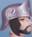 Morris Costumes 95-505BK Roman Helmet Gd W Black Brush