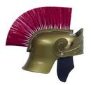Morris Costumes 95-505RD Roman Helmet Gold W Red Brush