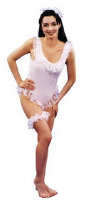 Morris Costumes AC-234LG Evening Lace White Large