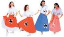Morris Costumes AC-252BK Poodle Skirt Black 1 Sz Adult