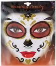 Morris Costumes AL-HF2476 Face Art Black Gold W/ Heart C