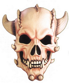 Morris Costumes AM-11 Demon Skull