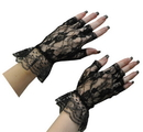 Morris Costumes BA-14 Gloves Black Fingerless 1 Sz